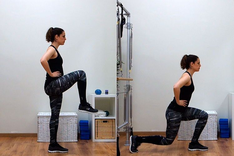 lunge y equilibrio